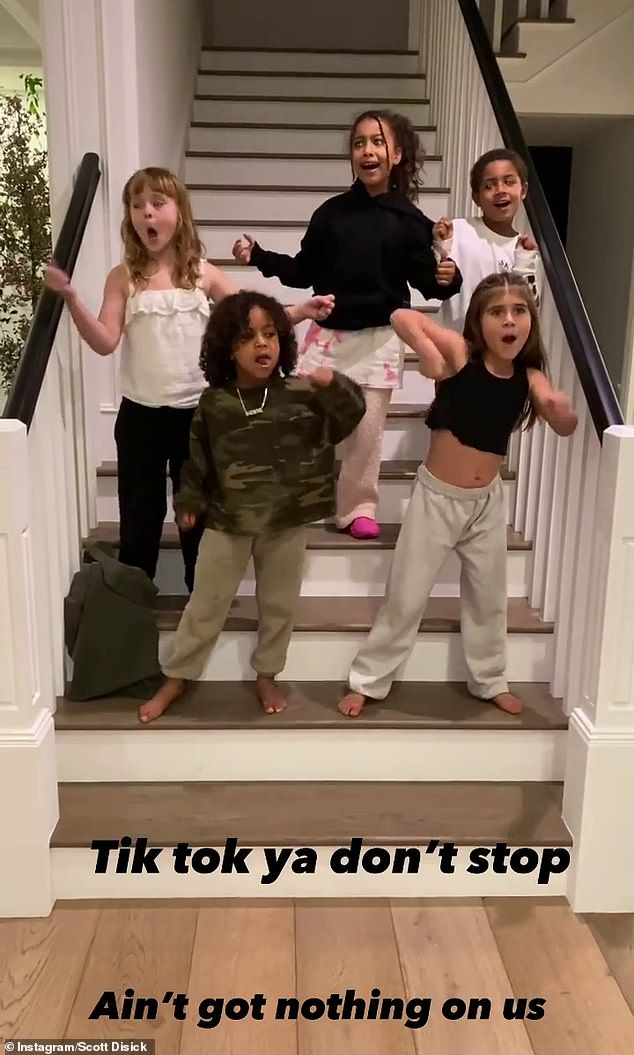 Controversial: The Kardashians have been accused of cultural appropriation, after three of the family's children plus two friends performed a haka dance on TikTok over the weekend