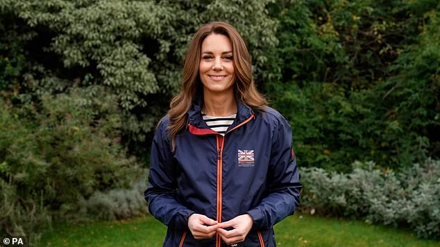 Kate Middleton sports British sailing jacket to send video message to UK sailing team