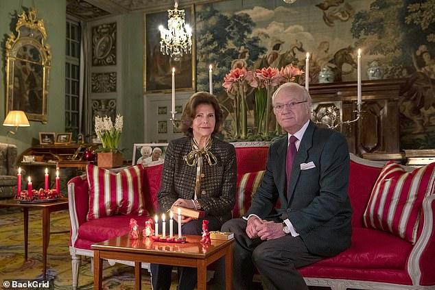 King Carl XVI Gustaf and Queen Silvia of Sweden share their festive greeting