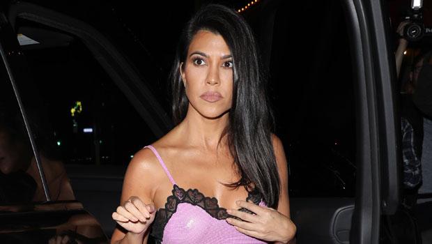 Kourtney Kardashian & Friend Hilariously Channel 'Romy & Michele's High School Reunion' In Matching Outfits
