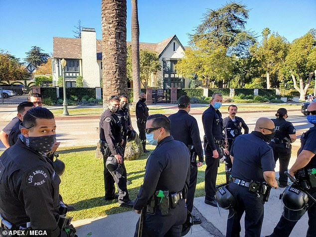 LA Mayor Garcetti's home is surrounded by cops as Black Lives Matter protesters target him