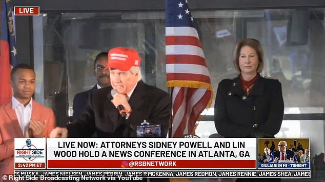 Attorney Lin Wood said at an event in Atlanta that President Trump called him and said he would never concede the election