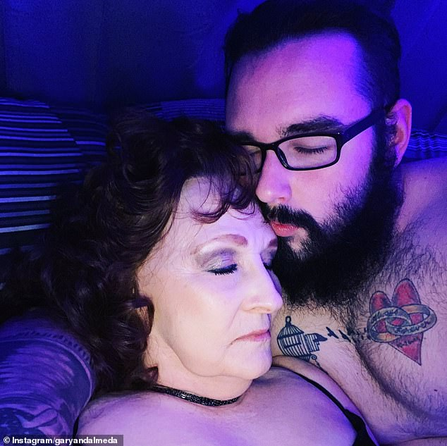 Almeda Errell, 76, and Gary Hardwick (pictured together), 23, from Tennessee, who have a 53-year age gap, have launched an OnlyFans account to share their racy content on