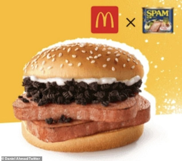McDonald's China launches a bizarre new burger with Spam, Oreos and a creamy sauce