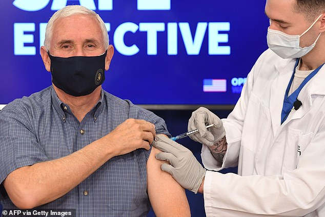 Mike Pence becomes highest-ranking member of government to receive COVID vaccine