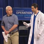Mike Pence gets his COVID shot as Trump's 'human shield' on SNL