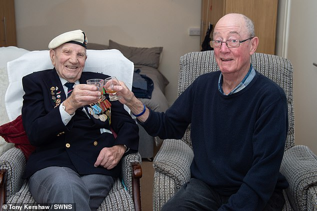 Military veterans aged 95 and 73 no longer face spending Christmas Day alone