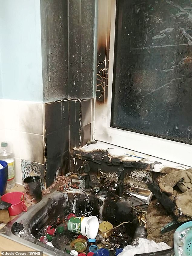Mother, 38, and daughter are lucky to be alive after WWII grenade EXPLODED in their kitchen sink