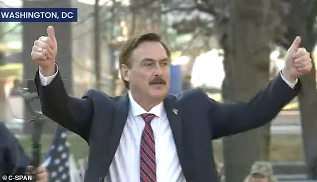 MyPillow CEO speaks at 'Stop the Steal' rally, accuses Fox News of trying to defeat Trump