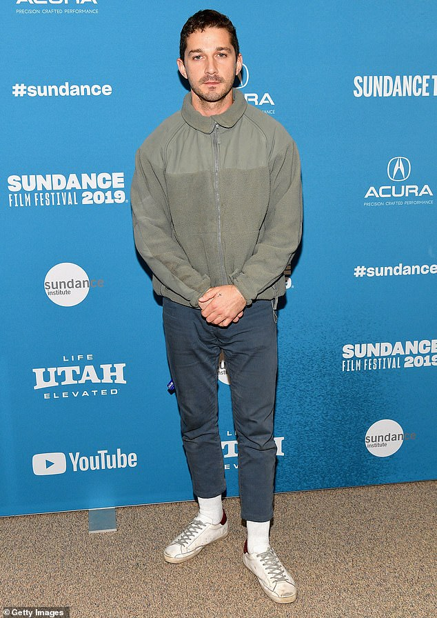 Missing: Netflix has ceased its awards season campaign for Shia LaBeouf, 34, who stars in its upcoming film Pieces Of A Woman; seen in January 2019 in Park City, Utah