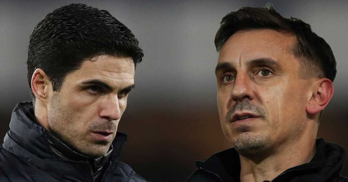 Neville explains why Arteta's biggest mistake at Arsenal is 'unacceptable'