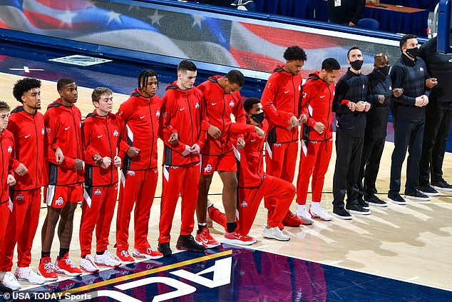 Ohio State basketball player kneels to protest police killing of his childhood friend