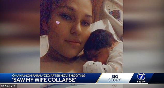 Omaha mother of two paralyzed in drive- by shooting five days after she gave birth