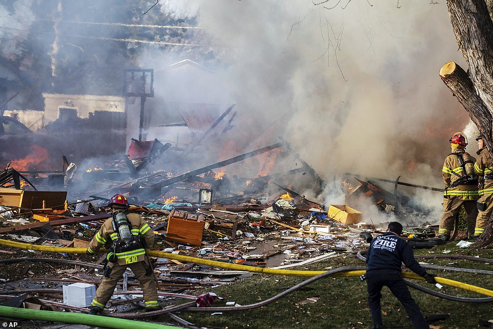 One dead and two critically injured when massive explosion destroys Nebraska home