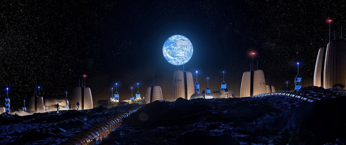 """PHOTOS: This will be the first human neighborhood installed on the moon, the """"Moon Village"""" The State"""