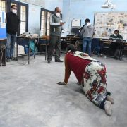 Panchkula woman with disability crawls up to booth at polling station