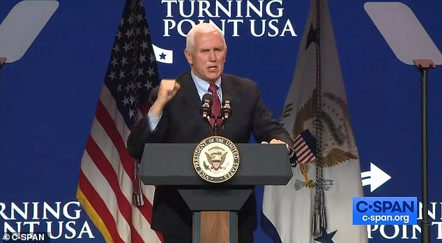 Pence claims 'we're going to keep fighting' to overturn election
