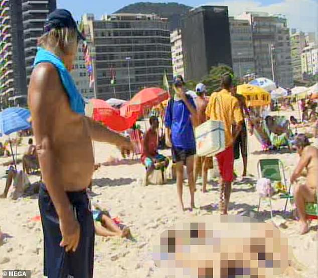 PeterNygard points and leers at girls as young as 15 on Brazilian beach