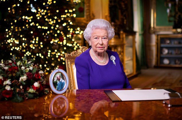 Queen dons the Courtauld Thomson Scallop-Shell Brooch for annual Christmas broadcast