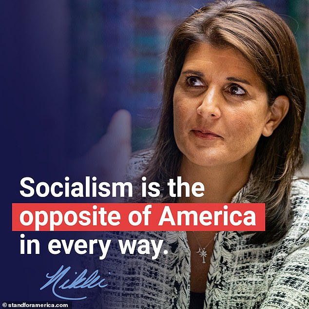 Republican Nikki Haley says 'socialism went mainstream' in 2020