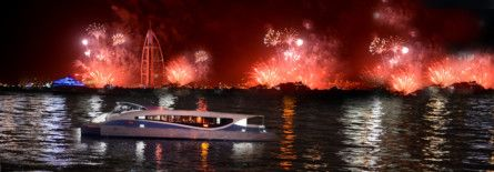 Ring in 2021 and watch Dubai fireworks aboard a ferry or abra
