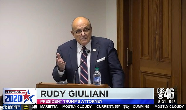 Rudy Giuliani gives video 'evidence' of ballot fraud in Georgia to Senate Judiciary subcommittee