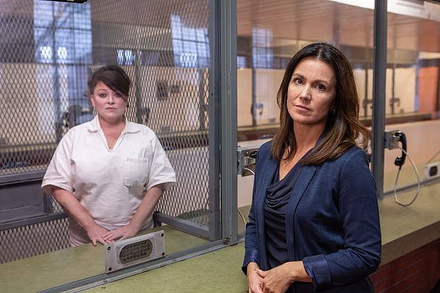 Susanna Reid interviews Darlie Routier at the Mountain View Unit, Gatesville Texas the state's death row for women.In this new documentary for ITV's Crime & Punishment strand