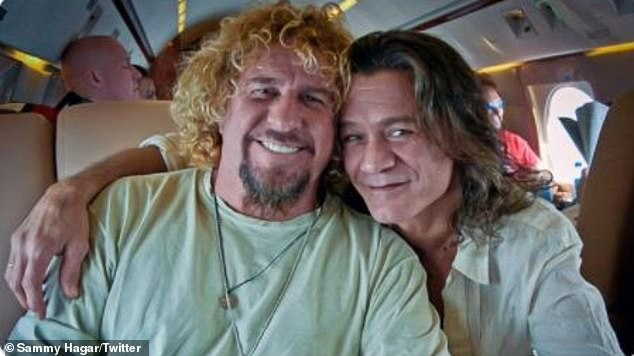 Grammy winner Sammy Hagar (L) reconnected with his late, great bandmate Eddie Van Halen (R) before he passed away, age 65, on October 6 following a decade-long battle with cancer