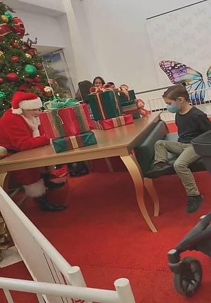 Santa tells crying boy he won't bring him Nerf gun