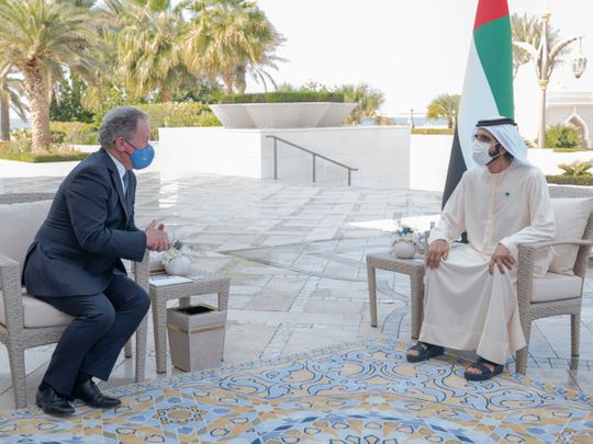 Sheikh Mohammed receives Executive Director of UN World Food Programme