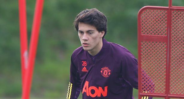 Facundo Pellistri in Man Utd training