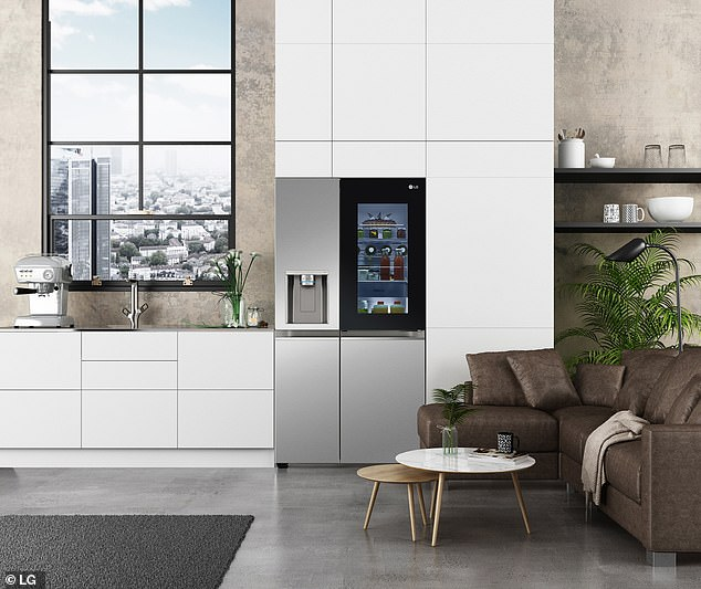 Tech: Voice-controlled smart fridge opens on command so you don't need to touch the handle