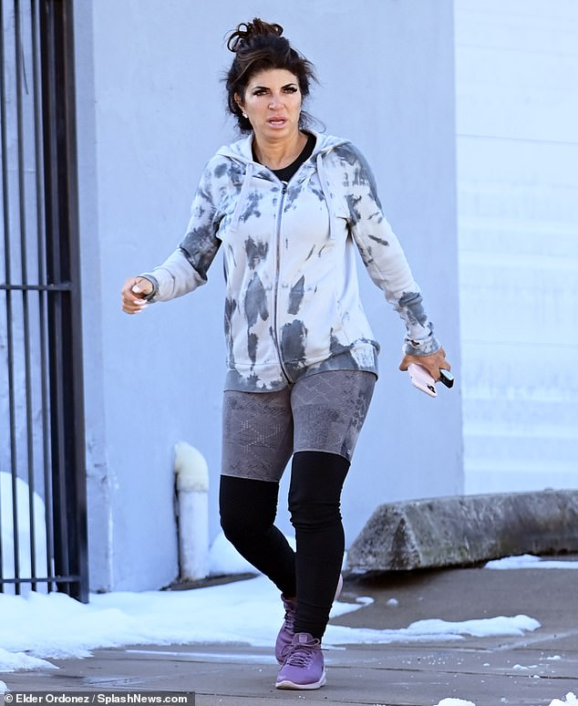 Teresa Giudice looks fit leaving a gym… as she goes Instagram official with new beau Luis Ruelas