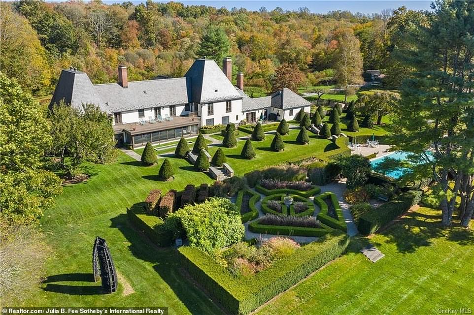 An 18.4-acre estate in Westchester County, some 50 miles north of New York City, is being listed for $13.2million