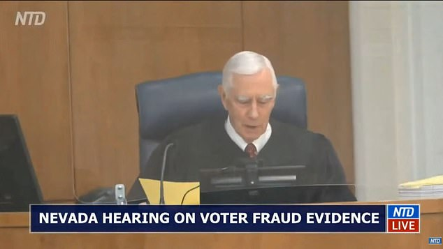 Trump's attorneys tell Nevada judge that more than 85,000 votes were cast illegally
