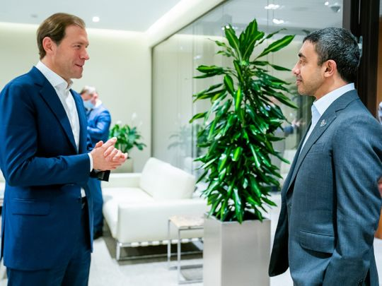 UAE's Abdullah bin Zayed meets Russia's trade minister