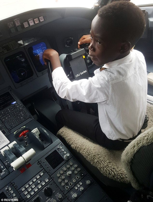 Ugandan boy, seven, nicknamed 'Captain' becomes sensation in his country for his aviation skills