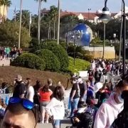 Universal Orlando hits capacity just 10 minutes after opening despite record COVID positivity rate