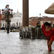 Venice floods: St Mark's Square swamped with water after heavy rain