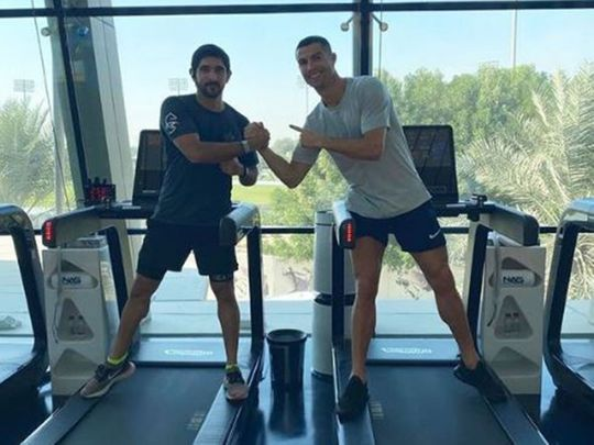 Video: Sheikh Hamdan and Cristiano Ronaldo head to the gym in Dubai