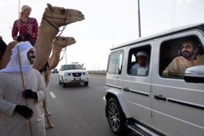 Watch: Mohammed bin Rashid greets camel trekkers in Dubai