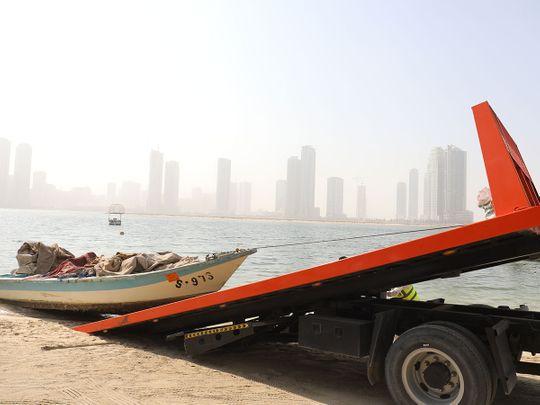 Watch: Sharjah Municipality seizes 213 abandoned boats
