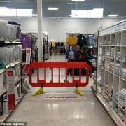 Welsh shoppers are left outraged after supermarkets cordon off non-essential items