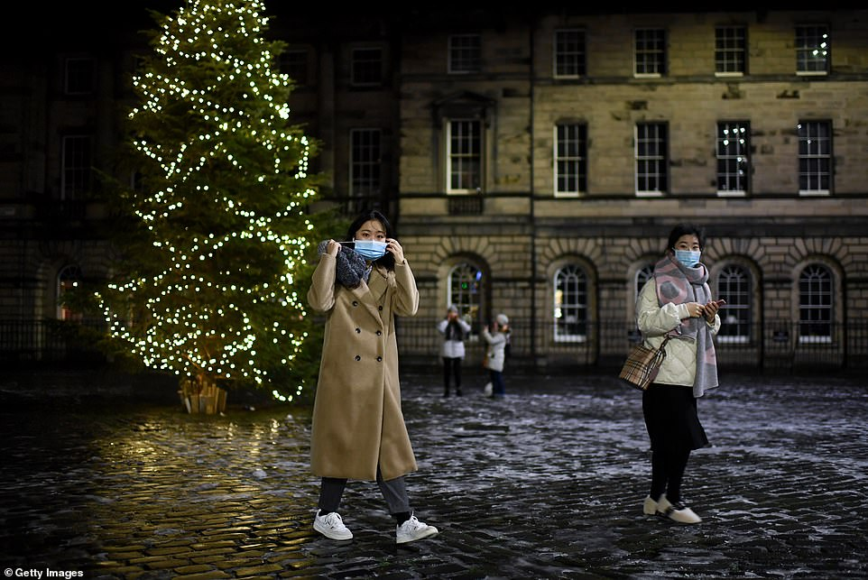 EDINBURGH: The city was nearly-empty today as traditional celebrations were moved online. Just a handful of people walked the streets
