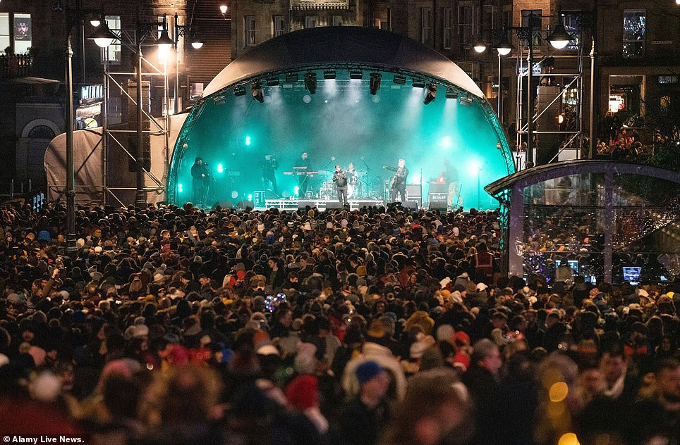 In 2019 a large Christmas Market was in Princes Street Gardens n Edinburgh and several live music stages were erected on the city streets