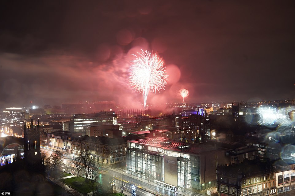 NEWCASTLE: Fireworks lit up the sky over Newcastle tonight in an incredible display watched by thousands from their windows