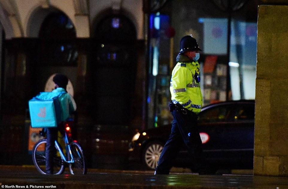 NEWCASTLE: A single police officer wanders the streets in Newcastle city centre to ensure people stick to the Tier 4 lockdown rules during New Years Eve