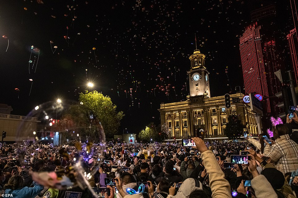WUHAN: Balloons were released into the sky in an incredible display in Wuhan. Huge crowds gathered in the city which was the Covid-19 epicentre less than a year ago