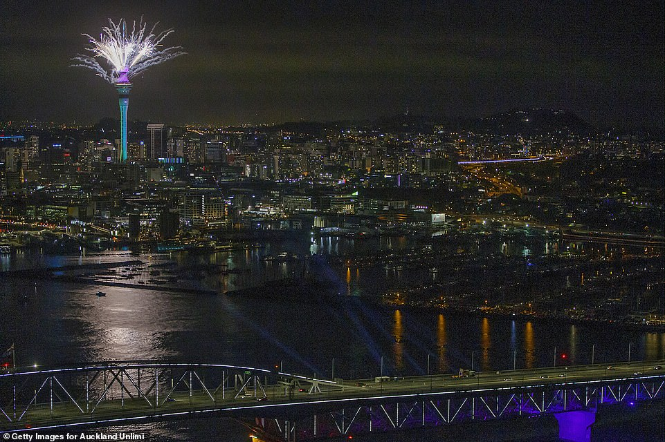 AUCKLAND: Fireworks streamed from the SkyTower in New Zealand in the first moments of January 1, 2021 as an exhausted world started to put a year of disease, death and unparalleled restrictions on normal life behind it