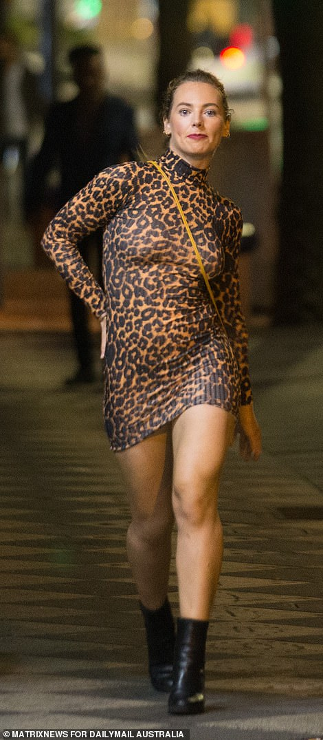 MELBOURNE: A woman was seen posing for pictures on the streets of St Kilda, Melbourne, as she welcomed in the new year